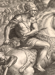 Crossing of the Granicus (detail) / Audran, after Le Brun