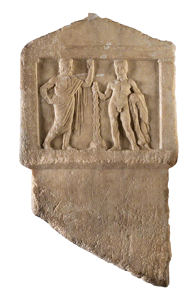 Relief with Antiochos and Herakles