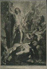 Resurrection / Bolswert, after Rubens