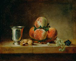 Still Life with Peaches / Chardin