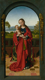 Virgin and Child in an Archway / Christus