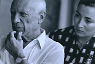 Pablo Picasso with His Wife / Liberman