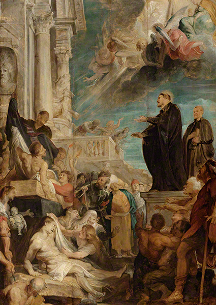 Modello for Miracles of Saint Francis Xavier / Rubens