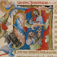 Christ in Majesty; Initial A  (detail) / Master of the Brussels Initials