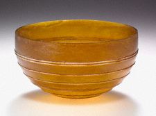 Amber Hemispherical Bowl / Unknown