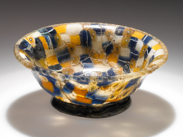 Cup with Blue, White, and Yellow Canes / Greek