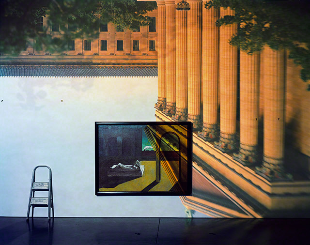 Camera Obscura: The Philadelphia Museum of Art East Entrance in Gallery #171 with a De Chirico Painting