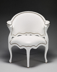 Nicole Cohen's reinterpretation of one of the Getty's 18th-century French chairs.