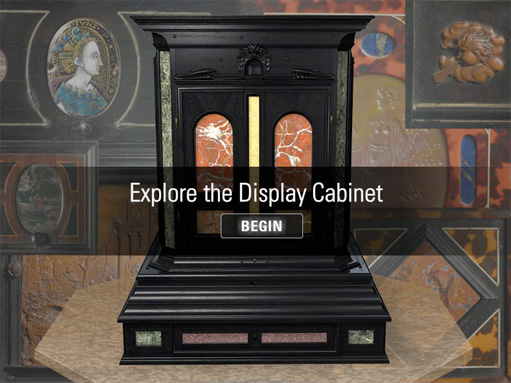 Explore the display cabinet