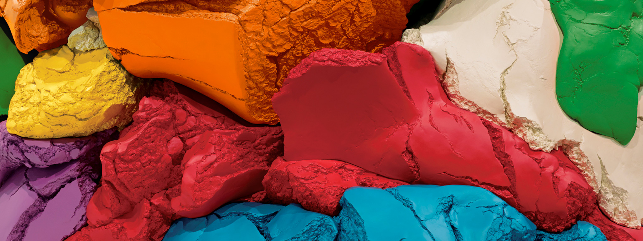 Play-Doh (detail), 1994–2014, Jeff Koons; polychromed aluminum. Collection of the artist. © Jeff Koons. Photo: Tom Powel Imaging