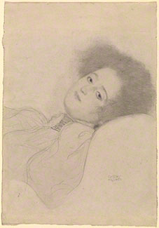 Portrait of a Young Woman Reclining