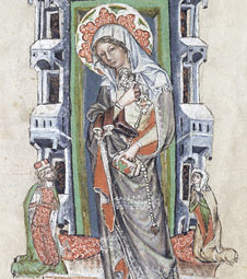 Saint Hedwig with Ludwig and Agnes / Polish