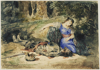 Death of Lara / Delacroix