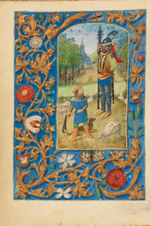 David and Goliath / Dresden Prayer Book, illuminator; or workshop of Master of the Dresden Prayer Book