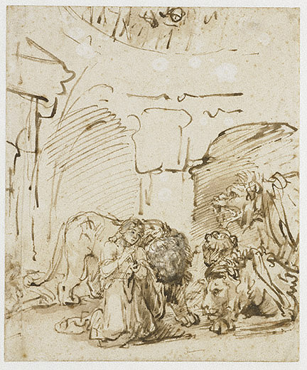 Daniel in the Lions' Den / Rembrandt