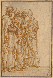 Study of Four Saints (Peter, Paul, John the Evangelist, and Zeno) / Mantegna