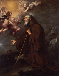 The Vision of Saint Francis of Paola / Murillo