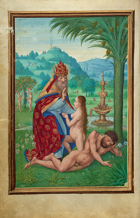 <em>Scenes from the Creation</em>, from the <em>Prayer Book of Cardinal Albrecht of Bradenburg</em>, about 1525-30, Bruges, Simon Bening. The J. Paul Getty Museum