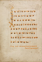 Text page from a Gospel / Ottonian