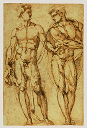Study of Two Men (after conservation) / Bandinelli