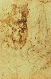 Study of the Head of a Bearded Man (after conservation) / Bandinelli