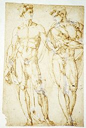 Study of Two Men (during conservation) / Bandinelli