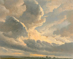 Study of Clouds with a Sunset near Rome / Denis