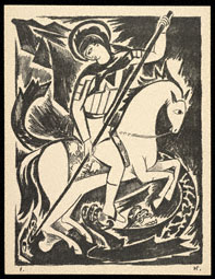 St. George the Dragonslayer / Goncharova