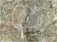 satellite image of ancient city of Gerasa