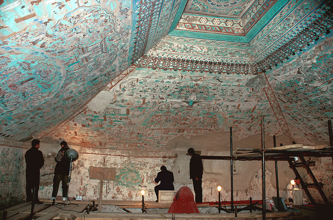 Wall Paintings Conservation At Mogao Grottoes