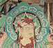 Wall painting detail of Bodhisattva