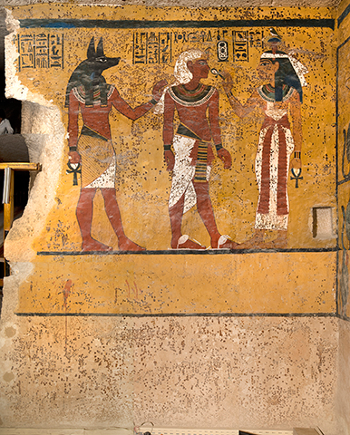 The south wall shows Hathor
