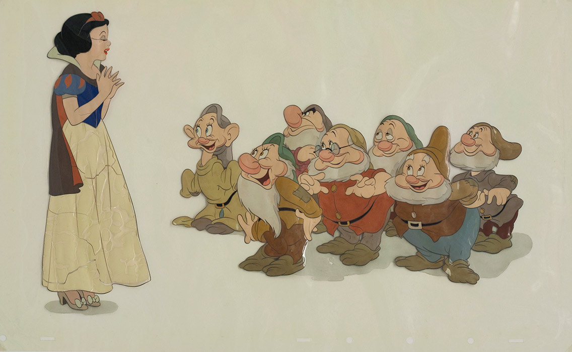 A cel from Snow White and the Seven Dwarfs