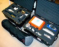 portable lab for analysis of photographic materials
