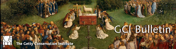 Detail from The Adoration of the Mystic Lamb (The Ghent Altarpiece) by Hubert and Jan van Eyck. Cathédrale de Saint Bavon. © Lukas-Art in Flanders