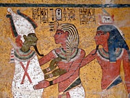 Wall painting from the tomb of Tutahnkamen.