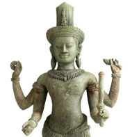 Cambodian bronze sculpture