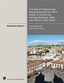 Role of Public-Private Partnerships and the Third Sector in Conserving Heritage Buildings, Sites, and Historic Urban Areas