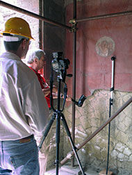 scientists using PTM to collect data in Herculaneum