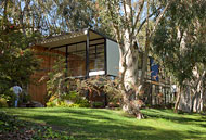 South facing view of Eames House