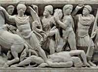Sarcophagus with Scenes from Life of Achilles (detail) / Roman
