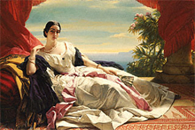 Portrait of Leonilla, Princess of Sayn-Wittgenstein-Sayn / Winterhalter