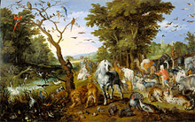 The Entry of the Animals into Noah's Ark / Brueghel the Elder