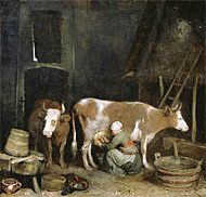 Maid Milking / Ter Borch