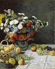 Still Life with Flowers and Fruit / Monet