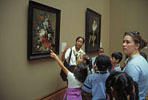 Students in the Museum at the Getty Center