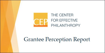 The Center for Effective Philanthropy logo and report title