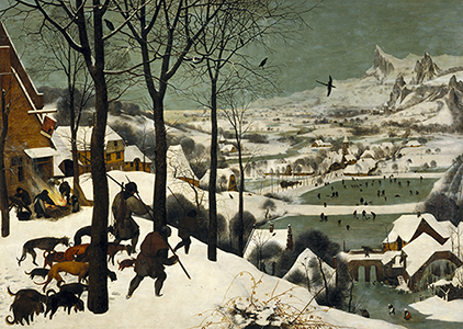 Pieter Brueghel the Elder, <i>Hunters in the Snow</i>, 1565