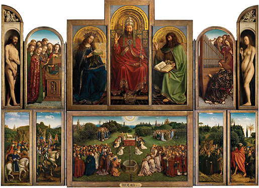 The Ghent Altarpiece, Hubert and Jan Van Eyck, Cathedral of Saint Bavo © Lukas - Art in Flanders