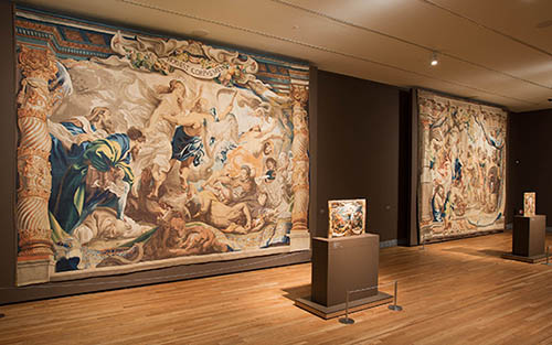 Installation of Rubens: Triumph of the Eucharist at the Prado Museum, 2014.